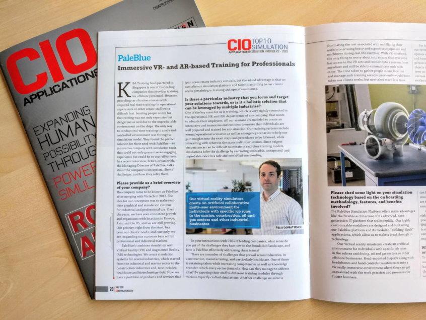 CIO maganize interview with PaleBlue