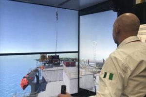 Motion platform ship simulator