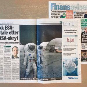 Finansavisen Newspaper Features PaleBlue