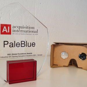 PaleBlue Awarded Best Industrial VR 2021