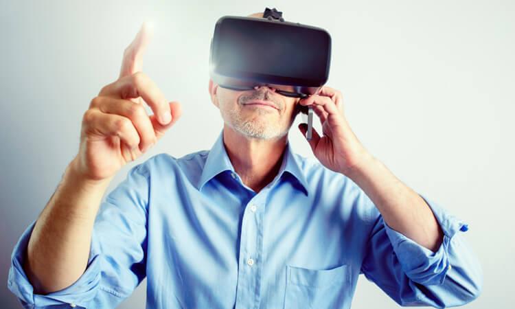 Man using VR